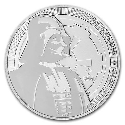 2017 Niue 1 oz. 999 Silver Star Wars - Darth Vader $2 BU Coin New Zealand Mint
