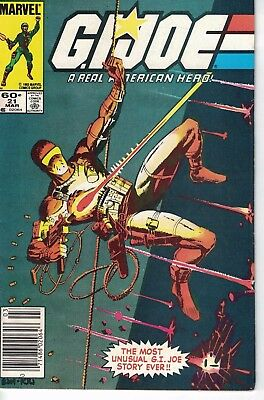 G.i. Joe A Real American Hero #21 1St Storm Shadow Newsstand Silent Issue!