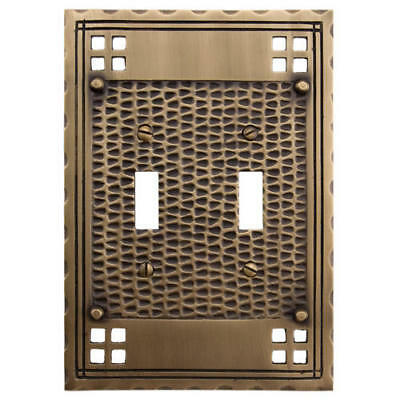 Signature Hardware Mission Design Solid Brass Double Switch Plate