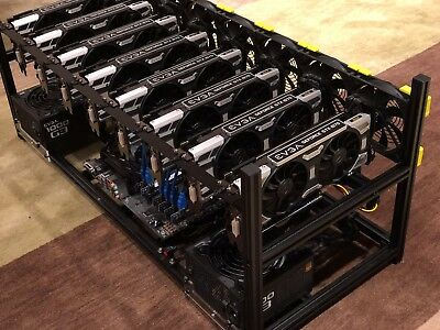 8 GPU GTX 1070 Cryptocurrency Mining Rig OMEGA - fully built for many Altcoins