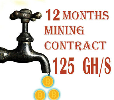 125 GH/s BITCOIN MINING CONTRACT 12 MONTHS,  GOOD INVESTMENT OPPORTUNITY