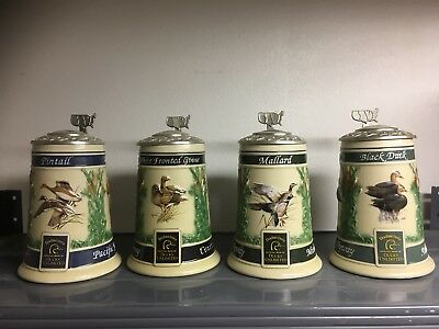 Anhueser-Busch Budweiser Water-Fowl Flyway Series Complete Set w/ Boxes and COA