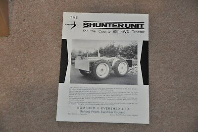 Bomford County Shunter 654 4WD tractor brochure leaflet 1960s