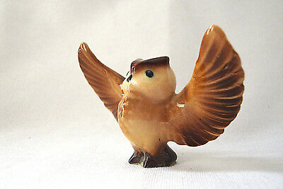 Retired Hagen Renaker Owl with Wings Outstretched-Perfect Condition