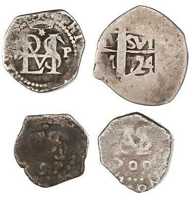 Lima, Peru, Silver Cob Study Collection, 1 & 1/2 Reales, Late 1500s-1724