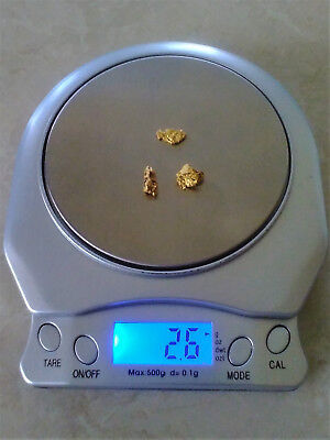 2.6 Grams of Australian Gold Nuggets
