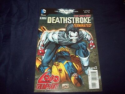 DEATHSTORKE #11 NEW 52 (2012) LOW-PRINT Rob Liefeld cover SCARCE
