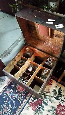 18th Century Military Officers Tantalus Traveling Liquor Case