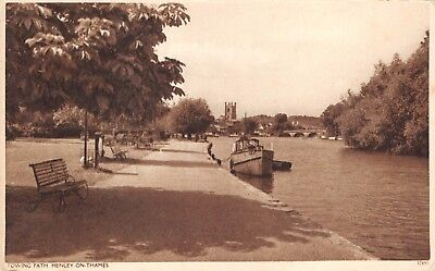 Henley On Thames Uk~Towing Path~Photo Postcard