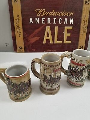 Budweiser And Coors Beer Mug Stein Collection