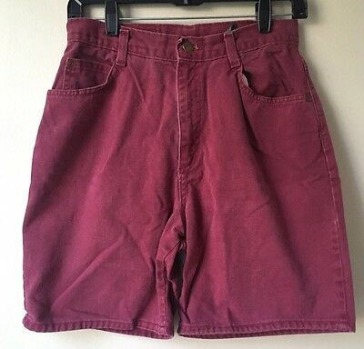 Vintage Red Burgundy Hunt Club Mom Shorts 10 Petite 28