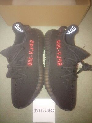 Adidas Yeezy Boost 350 V2 Bred Black Red UK 9.5