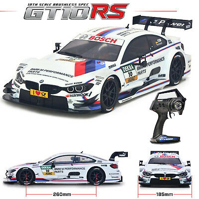 Carisma 72168 Gt10Rs Brushless 1/10 4Wd Bmw M4 #10 White Dtm Rtr