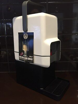 DECOR INSULATED BYO WINE CASK COOLER with BAR STAND ~ WHITE ~ BRAND NEW NO BOX