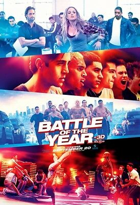 BATTLE OF THE YEAR MOVIE POSTER 2 Sided ORIGINAL 27x40 CHRIS BROWN