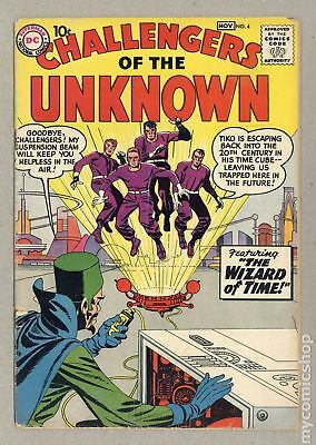 Challengers of the Unknown (DC 1st Series) #4 1958 GD+ 2.5