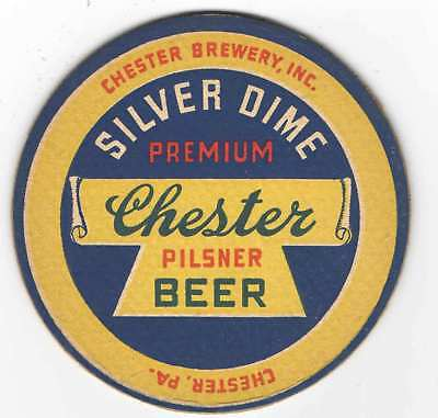 Chester Pilsner Beer Coaster, Chester Brewery, Inc., Chester, PA