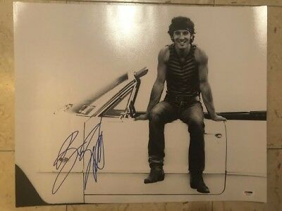 Bruce Springsteen Signed Autographed 16X20 Photo COVER ME BOSS BORN TO RUN PSA