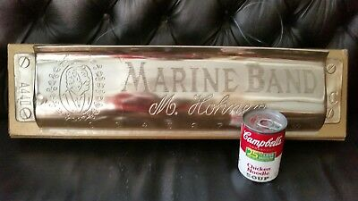 Hohner Marine Band  Harmonica Large Vintage Display  Advertising Sign