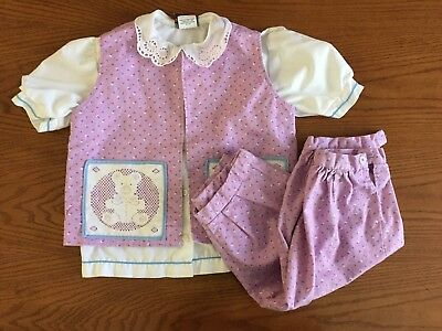 Vintage 1990's Girl's Levi's Blouse & Handmade Matching Vest & Knickers USA Made