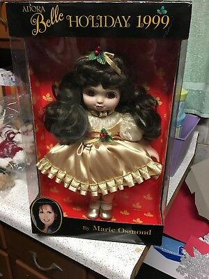 NIB Marie Osmond Adora Belle Holiday 1999 Vinyl Christmas Doll