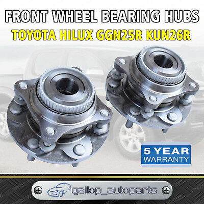 Toyota Hilux Pair Front Wheel Bearing Hubs Assembly GGN25R KUN26R 2005-2015