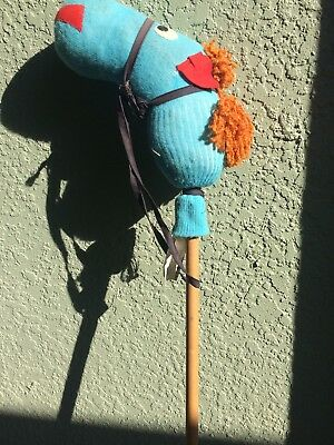 """VINTAGE(1970's) CRAFT CREATIONS TOY STICK HORSE, 44"""" TALL, GOOD CONDITION"""