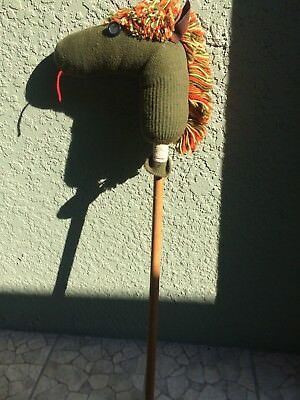 """Vintage(1070's) Hand Made Stick Horse, 38"""" Tall, No Other Like It, Good Cond."""