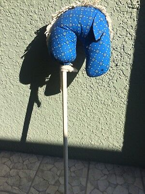 """VINTAGE HAND MADE STICK HORSE, NONE OTHERS lIKE IT, 36"""" TALL, GOOD COND."""