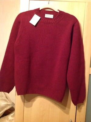 ladies size 40 wine coloured pure new wool sweater