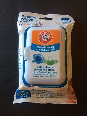Munchkin 36 Pack Arm and Hammer Pacifier Wipes, White New