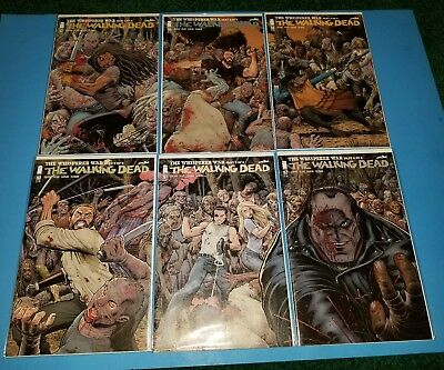 The Walking Dead #157 158 159 160 161 162 Arthur Adams Connecting Variant NM
