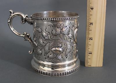 Antique mid-19thC, Bailey & Co Philadelphia American Coin Silver Cup Mug, NR