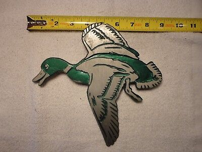 Antique Vintage NuART Mallard Duck Screen Door Grille Decoration