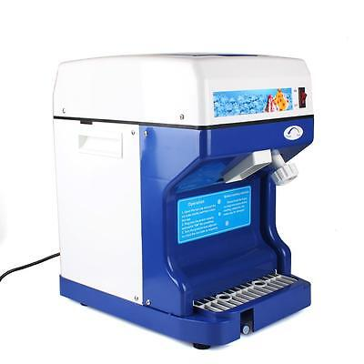 Electric Ice Shaver Machine Tabletop Shaved Ice Crusher Ice Snow Cone Maker New*
