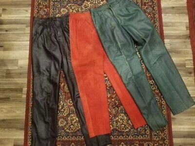 3 Vintage Leather and Designer pants owned by Warhol's Best Friend