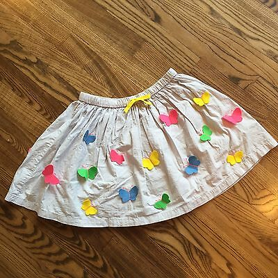 Mini Boden 7-8-9-10 Butterfly Skirt Gray Pink Blue Green Yellow Twirly