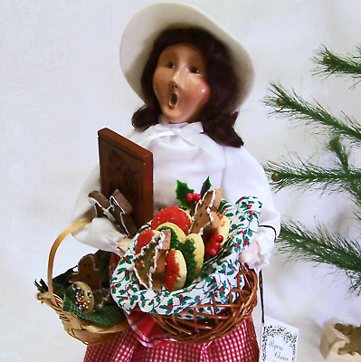 Byers Choice Carolers New Holiday Cookies Woman Vendor Cries London New Ol Stock
