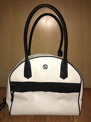 Lululemon Sweat Once A Day Bag White/Black/Raspberry; Excellent used condition