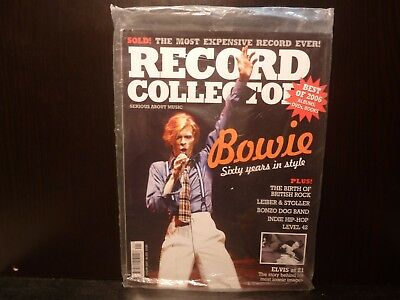 Record Collector magazine, David Bowie cover, Sealed, Addressed to GEMM.com