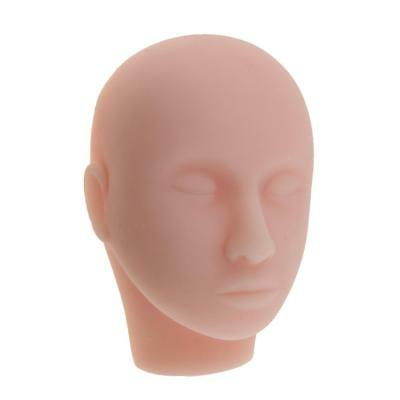 Soft Silicone Massage Eyelashes Make Up Practice Training Mannequin Head