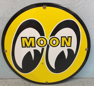 A Magnificent Moon Eyes Porcelain Sign