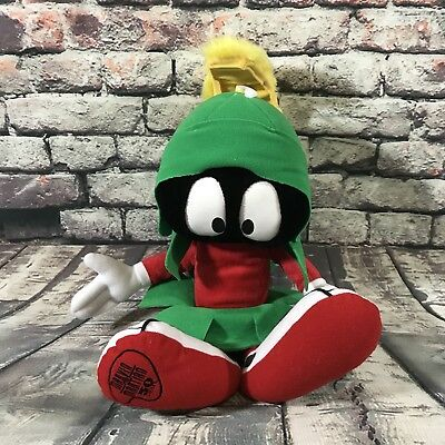 "16"" Marvin the Martian Talking Plush 1998 Applause 50th Anniversary Talking Doll"
