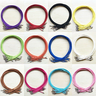 5/10Pcs Suede Leather String  Cord Lobster For Necklace Jewelry Making DIY 47cm