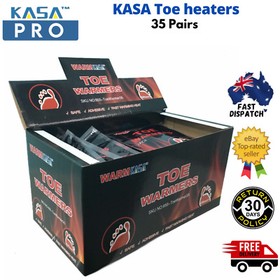 70 KASA 35Pairs Hot Toe heaters Pack Heat Feet Foot Sole hotter Ski Snow