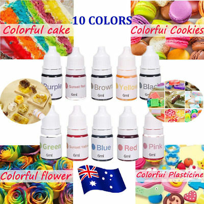 10 Colors Dyes Soap Making Coloring Set Liquid Kit Colorants For Bath Bomb ON