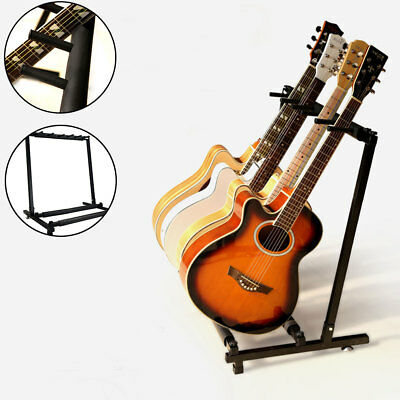 Gorilla 5-Way Multi Guitar Stand Foldable Acoustic Electric Bass Guitar Rack NEW