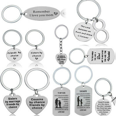 Mom Dad Gifts For Sister Aunt Niece Mum Friends Family Keychain Keyring Charm