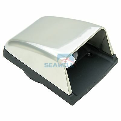 Stainless Steel Clam Shell Vent Marine Boat Cowl Air Vent With Base Hull Mount