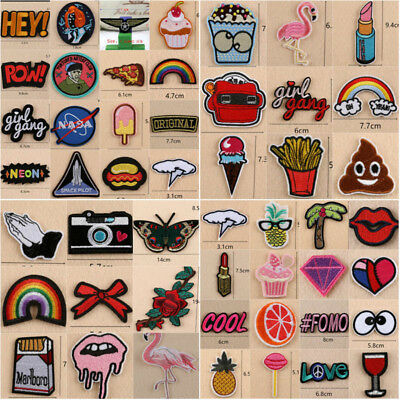 Embroidered Sew On Or Iron On Patches Badge Bag Dress Fabric Applique Craft Cute